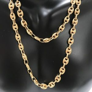 6a1432073947a 14K Yellow Gold Puffed Mariner Gucci Link Chain
